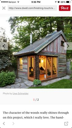 I want this in my backyard... home office, guest room, creative space.
