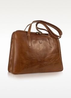 Chiarugi Handmade Brown Genuine Italian Leather Business Bag | FORZIERI