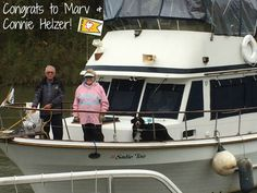 """Congratulations to our newest Gold Loopers, Marv and Connie Helzer! They completed the Great Loop on July 29, 2016 aboard their 38' United Ocean Trawler, """"Sadie Too""""."""
