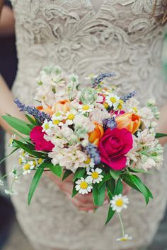 Wildflower Bridal Bouquet | photography by http://thenicholsblog.com/ very pretty and whimsical