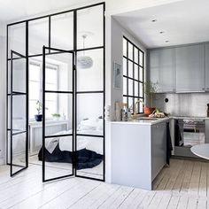 divisorias acero y vidrio