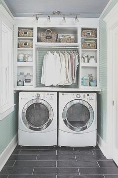 Washroom Design, Laundry Room Design, Laundry Decor, Laundry Baskets, Vanity Design, Small Laundry Rooms, Laundry Room Organization, Bathroom Storage, Bathroom Laundry Rooms