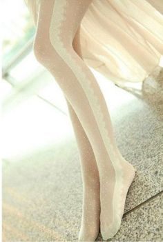 Anna Sui inspired Sheer Lace Tights by PinkBoxes on Etsy, $10.00