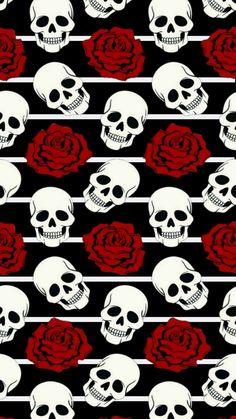 Skulls and roses. my paradise! Computer Wallpaper, Cellphone Wallpaper, Aesthetic Iphone Wallpaper, Skull Wallpaper, Pattern Wallpaper, Cute Wallpapers, Wallpaper Backgrounds, Sugar Skull Artwork, Skeleton Art