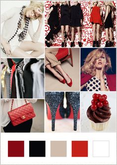 Love red, khaki, white & black !!