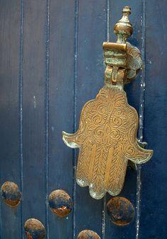 hamsa & old door ... hand of fatima
