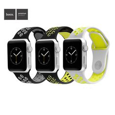 HOCO Sports Rubber Wrist Strap For Series 2 Apple Watch Silicone Breathable Watch Band For iWatch 2nd 1st Bracelet 38mm 42mm