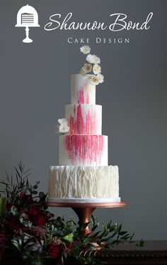 watercolor buttercream wedding cakes