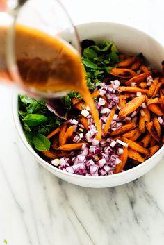 Masala Lentil Salad With Cumin Roasted Carrots | Cookie + Kate #veganfood #veganrecipes #glutenfreerecipes