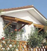 Wood Slat Window Awning Google Search Door Canopy Porch Roof