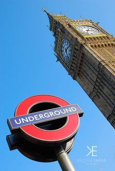 Iconic  London England  British Underground UK by KristenEmmaPhoto