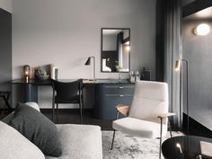 Universal Design Studio's latest project, At Six Hotel Stockholm, is home to one of Europe's most ambitious contemporary art collections within a hotel. Design Hotel, Design Studio, Restaurant Design, Six Hotel, Casa Hotel, Living Room Furniture, Home Furniture, Furniture Design, Wooden Furniture