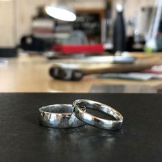 George and Amelia made these silver rings in a private workshop this afternoon. They're spending the long weekend doing classes, eating out and travelling around our beautiful region. I have to say I'm a little envious. It was lovely to spend the afternoon with them and I ❤️ these rings with matching textures.