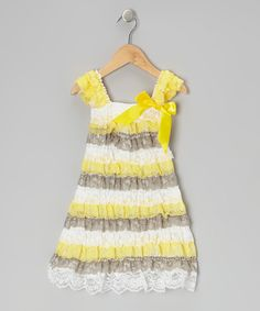 Ruffle up some fun with this adorable dress that was designed by fairies and constructed by pixies. It boasts tiers of lovable lace ruffles, stretchy straps and a simple slip-on silhouette.100% polyesterHand wash; hang dryImported