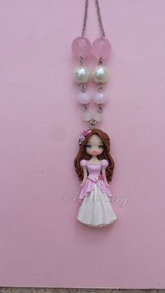Princess necklace in fimo polymer clay by Artmary2 on Etsy