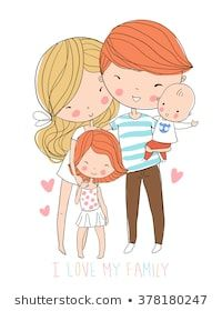 Find Happy family Stock Vectors and millions of other royalty-free stock photos, illustrations, and vectors in the Shutterstock collection. Thousands of new, high-quality images added every day. Cute Drawings Of Love, Cute Sketches, Cartoon Sketches, Couple Drawings, Family Sketch, Family Drawing, Cute Family, Happy Family, Family Family