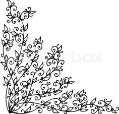 Ornate scroll #vines #embroidery.  Expand a bit to use as train on wedding gown