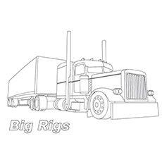 Truck Kleurplaten Big Rig