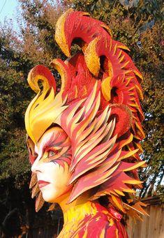Homemade Phoenix headress...amazing!