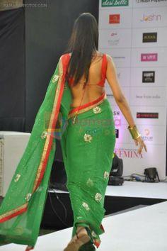 Beautiful #Saree w/ backless #Choli at Femina Magazine https://twitter.com/FeminaIndia Showcase Show at Inorbit Mall, Mumbai, May 2014