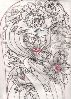 giger style flower drawing - Google Search