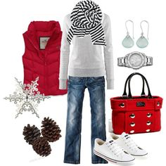 Christmas errands - Click image to find more Women's Fashion Pinterest pins