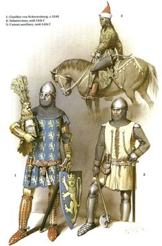 German Medieval Armies, 1300-1500 - 2 German knights mid-14th and a Cuman auxiliary. Osprey Publishing