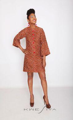 Kwesiya African Inspired Dress In Brown by Kwesiya on Etsy, $139.95
