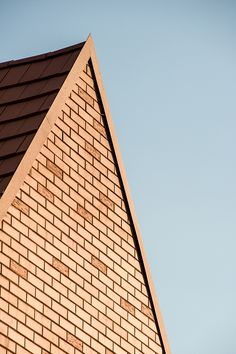 Nice gable end detailing with brick. Nursery in Nagykovácsi by Földes Architects   #architecture #detail #design #texture
