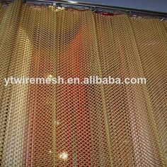 Metal mesh curtain. Metal Curtain, Metal Mesh, Curtains, Prints, Inspiration, Beautiful, Design, Decor, Biblical Inspiration