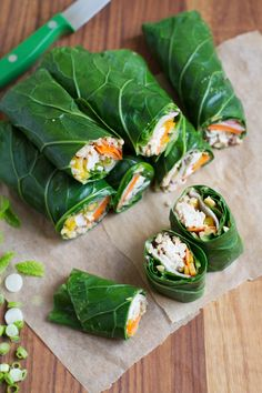 Pack It For The Plane: Peanut Chicken Collard Greens Wraps   http://saltandwind.com   @saltandwind Healthy Recipes