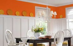 This is the orange paint Mom and I want for the kitchen. It's the same as we had in the house I grew up in so we'll call it retro :)