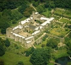 Aerial photograph of Haddon Hall
