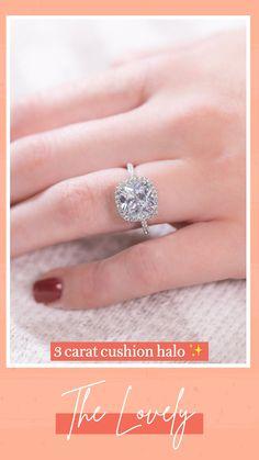 Blue Wedding Rings, Wedding Band Sets, Rose Gold Engagement Ring, Halo Engagement, Princess Cut Halo, Princess Cut Diamonds, Cushion Halo, Cushion Cut Diamonds, 3 Carat