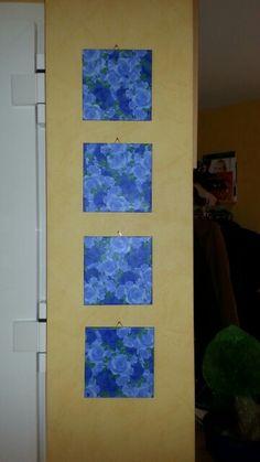 Serviettentechnik Bilder Rosen Blau
