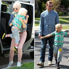 Rossdale boys are rocking shirts from Wonder Mom's Mini Harajuku for Target collection.