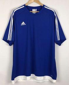 2cab30df36 Adidas Climalite Tee 2XL Stripes Short Sleeve T-Shirt Royal Colbalt Blue  XXL. Adidas MenPolo ShirtPolo