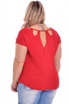 Blusas Femininas Plus Size Blouses For Women, T Shirts For Women, Look Plus Size, Blouse Neck Designs, Refashion, Dress Me Up, Casual Wear, Plus Size Fashion, Outfits