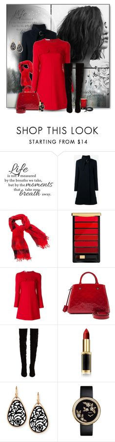 """""""Red and Black"""" by perla57 ❤ liked on Polyvore featuring WALL, Chloé, Faliero Sarti, L'Oréal Paris, Dondup, Louis Vuitton, Christian Louboutin, Pomellato, Chanel and Tamara Comolli"""