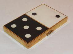 Rare Coty Enamel Domino Powder Compact