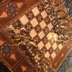Classic Antique Copper Chess Set Handmade Pieces Natural | Etsy Wood Chess Board, Chess Set Unique, Pearl Design, Just A Game, Chess Pieces, Antique Copper, Solid Wood, Antiques, Natural