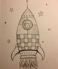Laika the astronaut dog Tattoo sketch book spaceship rocket drawing geek tattoo tattoo sleeve dog in space tattoo sketch drawing by J. Meusen sketching