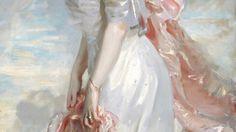The Stars, Sun, Moon, all shrink away/John Singer Sargent, Portraits of Three Ladies (details)