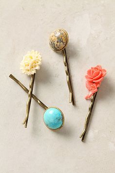 garden stroll bobbie pins, $24 at anthropologie.