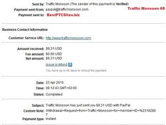Traffic Monsoon Payment No8 http://bestptcsites.biz/