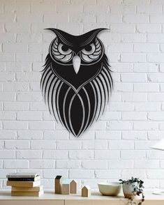 Baykuş Metal Plaka - Owl