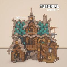 A minecraft medieval house! (Tutorial by pictures)😉 : Minecraftbuilds Minecraft Medieval House, Minecraft Mansion, Minecraft Cottage, Cute Minecraft Houses, Amazing Minecraft, Minecraft Crafts, Minecraft Stuff, Plans Minecraft, Minecraft House Tutorials