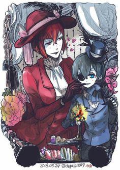 Black butler, Kuroshitsuji,  Angelina Durless, Ciel Phantomhive