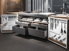 Scarica il catalogo e richiedi prezzi di Chef de cuisine By toncelli cucine, modulo cucina freestanding a scomparsa