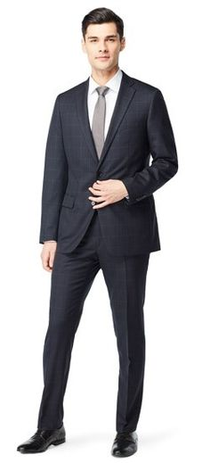 You're in the lap of luxury now. We've taken our most popular wool midnight suit and blended it with cashmere to heighten its sophistication. Cashmere is king, gentlemen.